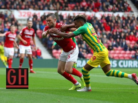 Middlesbrough 0-1 West Bromwich - Watch goals and highlights football Championship 2019-2020