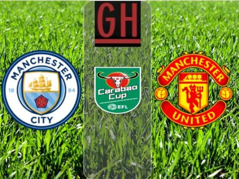 Manchester City vs Manchester United - Carabao Cup 2019-2020 footballgh.org