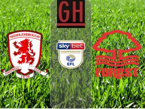 Middlesbrough 2-2 Nottingham - Championship 2019-2020 footballgh.org